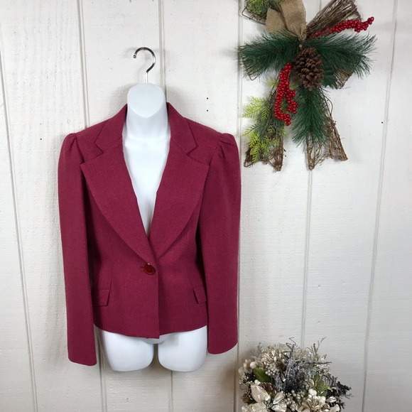 Betsey Johnson Jackets & Blazers - Betsey Johnson pink cropped blazer sz L